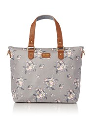 Ollie And Nic Daisy Medium Tote Bag Grey