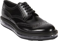 Prada Transparent Air Sole Wingtip Blucher Black Size 8