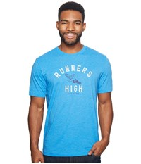 Life Is Good Runners High Cool Tee Marina Blue Short Sleeve Pullover