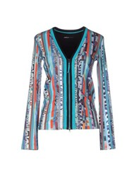 Marc Cain Sports Knitwear Cardigans Women Turquoise