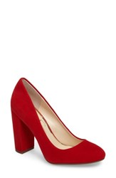 Jessica Simpson Women's Belemo Pump Red Muse Suede