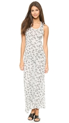 Zoe Karssen Leopard Maxi Dress Grey Heather