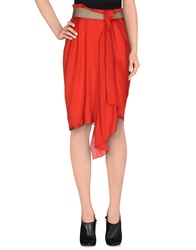 Coast Weber And Ahaus Knee Length Skirts Red