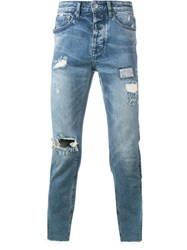 Ksubi Chitch Chop Distressed Jeans Blue