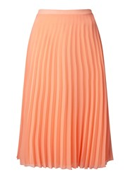 Miss Selfridge Coral Pleated Maxi Skirt Cream