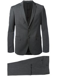 Tonello Pinstriped Suit Grey