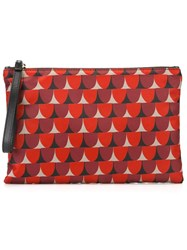 Red Valentino Geometric Print Clutch Red