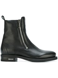 Dsquared2 Side Zip Ankle Boots Black