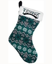 Forever Collectibles Philadelphia Eagles Ugly Sweater Knit Team Stocking Black