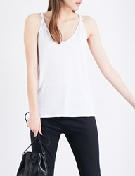 Theory Scarsdale Sleeveless Cotton Blend Top White