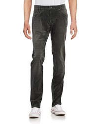 Bugatti Textured Cotton Blend Pants Grey