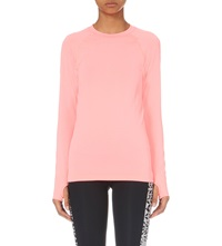 Sweaty Betty Hypo Glisten Long Sleeved Top Coral Candy
