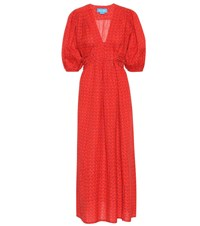 Mih Jeans Avery Linen And Cotton Dress Red