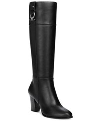 Alfani Women's Courtnee Tall Wide Calf Boots Only At Macy's Women's Shoes Black