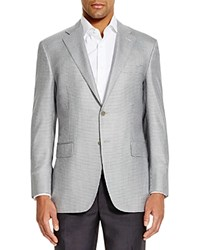 Canali Siena Houndstooth Classic Fit Sport Coat Black White Grey