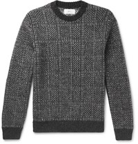 Mr P. Checked Knitted Sweater Gray