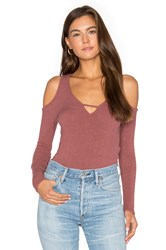Project Social T Sultry Keyhole Long Sleeve Rose