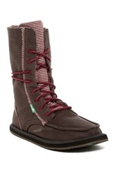 Sanuk Stevie Lace Up Boot Brown