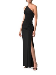 Laundry By Shelli Segal One Shoulder Matte Jersey Dress Midnight Black