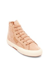 Superga Lace Up High Top Sneakers Beige
