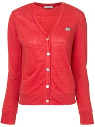 Guild Prime Logo Patch Cardigan Red
