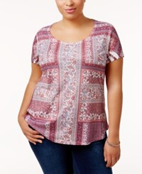 Styleandco. Style Co. Plus Size Printed T Shirt Only At Macy's Sweet Blossom