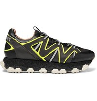 Lanvin Lightning Leather Sneakers Black