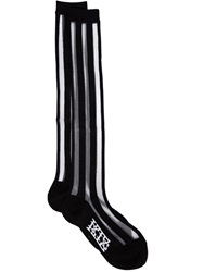 Ktz Striped Knee High Socks Black