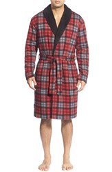 Men's Ugg Australia 'Manning' Plaid Cotton Blend Robe