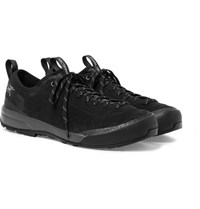 Arc'teryx Acrux Sl Mesh Panelled Suede And Gore Tex Hiking Sneakers Black