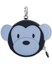 Kipling Monkey Marguerite Coin Purse Blue Combo Silver