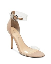 Ivanka Trump Women's Kaye Suede Illusion High Heel Sandals Dark Natural