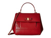 Salvatore Ferragamo Carrie 21F558 Rosso Rosso Rosso Satchel Handbags Red