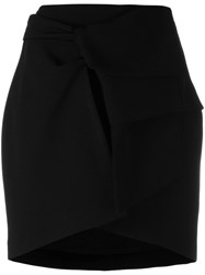 Iro Folded Front Skirt Black