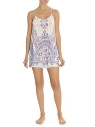 In Bloom Country Blue Border Chemise Ivory Blue