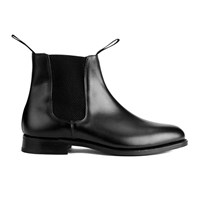 Tricker's Men's Game Leather Elastic Insert Chelsea Boots Black