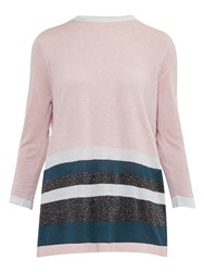 Ted Baker Colour By Numbers Zatta Metallic Stripe Jumper Pale Pink