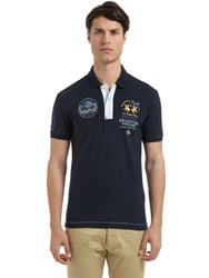 La Martina Stretch Cotton Pique Polo Shirt