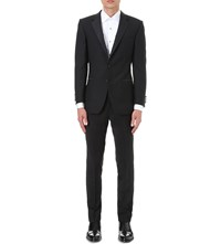 Gieves And Hawkes Regular Fit Wool Mohair Blend Dinner Jacket Black