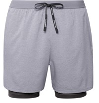 Nike Running Stride 2 In 1 Flex Dri Fit And Mesh Shorts Gray
