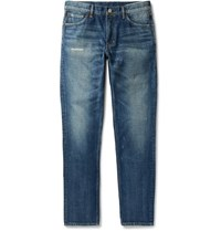 Visvim Social Sculpture 03 Slim Fit Distressed Denim Jeans Indigo