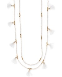 Lonna And Lilly Gold Tone Beaded Tassel 30 32 Layered Necklace White