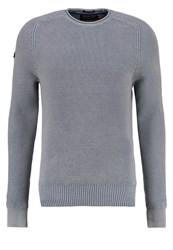 Superdry Ultimate Jumper Worn Chambray Grey