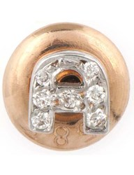 The Alkemistry Kismet By Milka 14Ct Rose Gold Diamond A Initial Stud Earrings