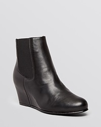 Stuart Weitzman Wedge Booties Nusocks Black Leather