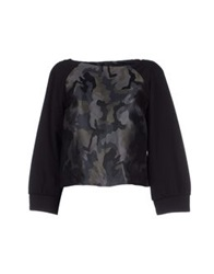 Pinko Black Sweatshirts Lead