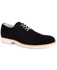 Calvin Klein Men's Oily Suede Faustino Oxfords Men's Shoes Black