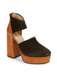 Free People Luxor Suede Platform Heels Brown