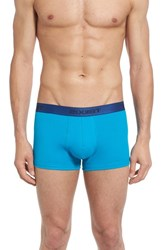 2Xist Men's 2 X Ist No Show Trunks Monaco Scarlet Blue Jewel