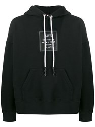 Palm Angels Patch And Graphic Print Hoodie Black